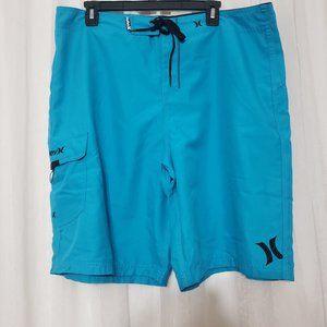 Men's Hurley Swim Trunks Board Shorts Swim Shorts Side Pocket Size 38